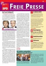 Freie Presse - Januar 2013 - SPD Osnabrück