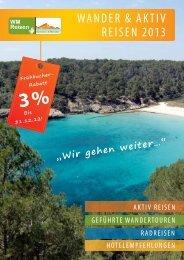 WANDER & AKTIV REISEN 2013 - WM Reisen