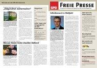 Freie Presse - Februar 2011 - SPD Osnabrück