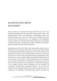 Pressemappe deutsch 2012 - Ellington Hotel Berlin