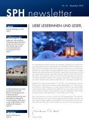 SPH newsletter - schiller publishing house