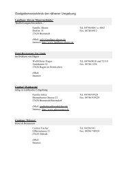 Gastgeberverzeichnis der näheren Umgebung - Deutscher ...