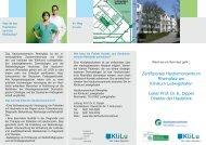 Hauttumorzentrum - Flyer - Klinikum der Stadt Ludwigshafen