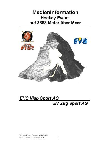 lnhaltsverzeichnis - EHC Visp