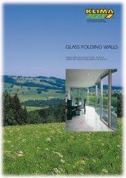 GLASS FOLDING WALLS WALLS - klima flex