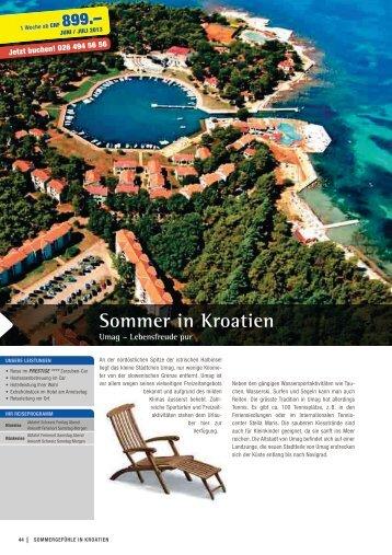 Sommer in Kroatien - Horner - Reisen