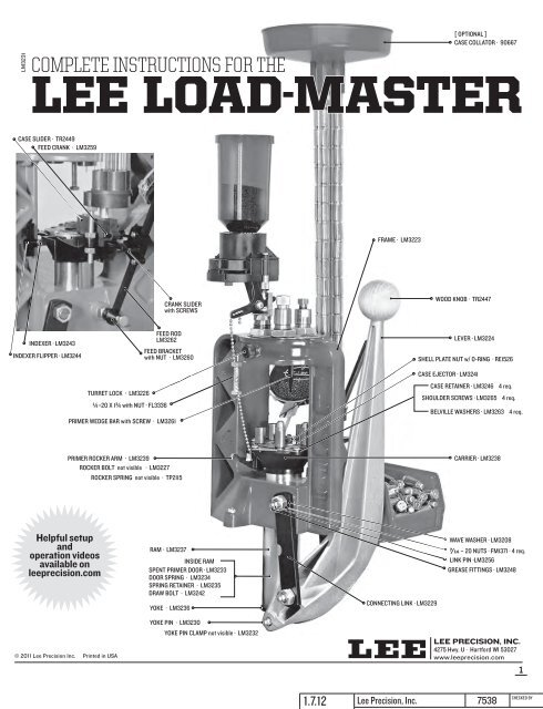 LEE Load Master Small Primer Feeder 90075