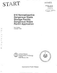616 Nonradioactive Dangerous Waste Storage ... - Hanford Site