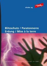 Blitzschutz / Paratonnerre Erdung / Mise à la terre - Elvatec AG