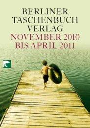 berliner taschenbuch verlag november2010 bis april2011