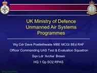 Defence UAS Capability Development Centre - Drone Wars UK