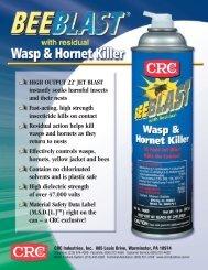 Bee Blast® Sell Sheet - CRC Industries
