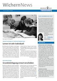 WichernNews 02/2009 - Wichern-Schule