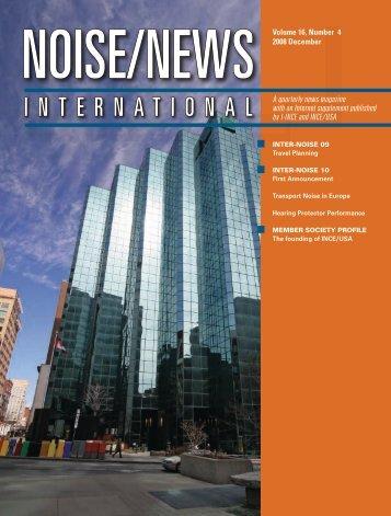 Volume 16, Number 4, December, 2008 - Noise News International