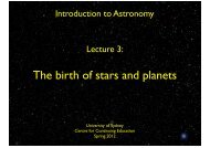 The birth of stars and planets - University of Sydney
