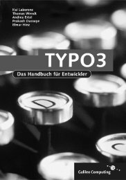 Typo3 Handbuch - Galileo Computing