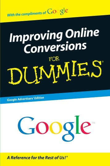 Improving Online Conversions For Dummies, Google Advertisers ...