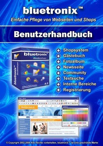 Inhaltsverzeichnis - Bluetronix