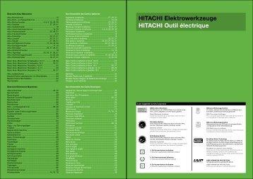 HITACHI Elektrowerkzeuge HITACHI Outil ... - EMM Tools Gmbh