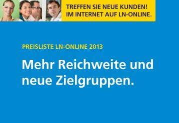 LN-Online Preisliste - Luebecker-Nachrichten