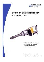 Druckluft-Schlagschrauber KW-3800 Pro GL - EMM Tools Gmbh