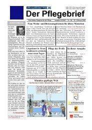 Der Pflegebrief - Ausgabe 01/2005 (Nr. 86) - Pflegen-online.de
