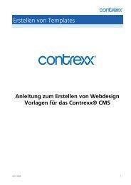 Erstellen von Templates - Contrexx