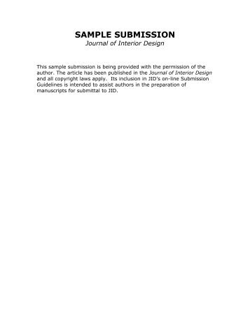 On Being the Journal of Record for Interior Design by Margaret