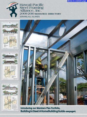 Hawaii Pacific Steel Framing Alliance - Building Industry Magazine