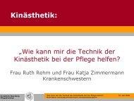 Kinästhetik: - Kreisklinik Ebersberg GmbH