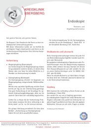 Patienteninformation Endoskopie - Kreisklinik Ebersberg GmbH