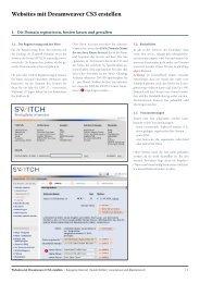 Websites mit Dreamweaver erstellen - Atelier Guido Köhler
