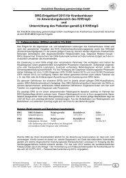 Anlage zu AVB: DRG-Entgelttarif - Kreisklinik Ebersberg GmbH