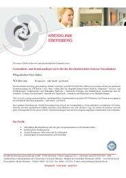 Gesundheits- und Krankenpfleger (m/w) - Kreisklinik Ebersberg GmbH