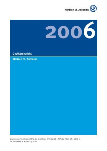 strukturierter Qualitätsbericht von 2006