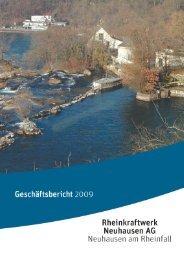 Geschaeftsbericht rheinkraftwerk Neuhausen AG 2009 - Enalpin AG