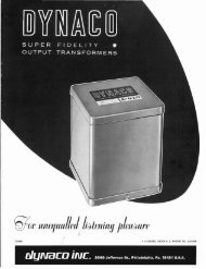 Dynaco Transformer Catalog - Gary's Tube Page