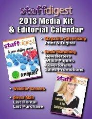 2013 Media Kit & Editorial Calendar - staffdigest