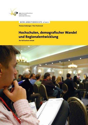 Hochschulen, demografischer Wandel und - WZW ...