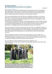 60 Jahre im Orden - Kliniken St. Elisabeth
