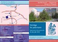 Vorträge für jedermann - Kliniken St. Elisabeth