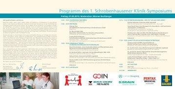 Programm des 1. Schrobenhausener Klinik-Symposiums