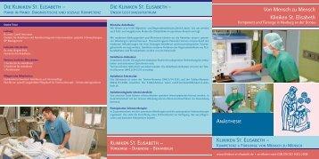 Die Kliniken St. Elisabeth