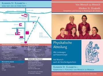 Physikalische Abteilung - Kliniken St. Elisabeth