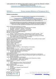 PROGRAMME D'ENSEIGNEMENT 2011-2012 - ENSAAF