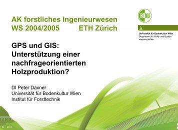 Department Für Wald- Und Boden - Professur forstliches ...