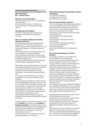 Studieninformation und Zulassungsantrag Bachelor (PDF: 86KB)