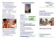 Flyer Kinderklinik - Katholisches Klinikum Bochum