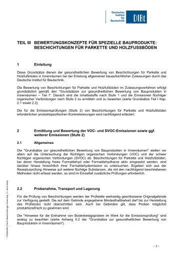 Grundsätze zur gesundheitlichen Bewertung Teil III - Deutsches ...