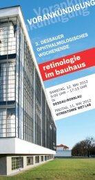 Vorankündigung Vorankündigung - Städtisches Klinikum Dessau
